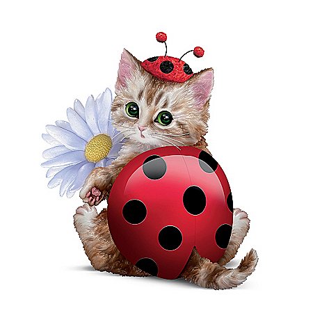 Cute As A Bug Cat Figurine from The Bradford Exchange Online Product Image