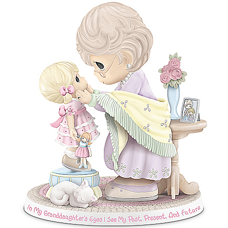 Precious Moments Figurine: In My Granddaughter's Eyes I See My Past, Present, And Future