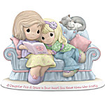 Precious Moments Figurine - A Daughter Fills A Space In Your Heart You Never Knew Was Empty