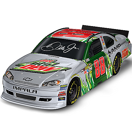 Dale Earnhardt Collectibles NASCAR Dale Earnhardt Jr. #88 Diet Mountain Dew Sculpted 1:18 Car Sculpture
