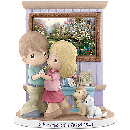 Precious Moments And Thomas Kinkade In Your Arms Is The Perfect Place Figurine