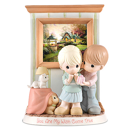 Precious Moments Thomas Kinkade You Are My Wish Come True Figurine