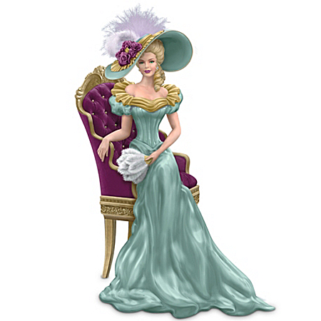 Thomas Kinkade Woman Figurine: Sitting Pretty