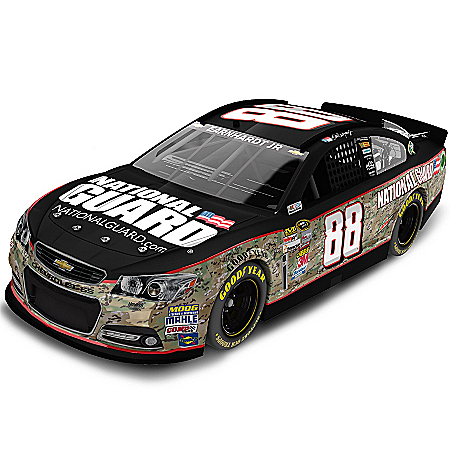 Dale Earnhardt Collectibles Diecast Car: Dale Earnhardt Jr. No. 88 National Guard Camouflage 2013 Diecast Car