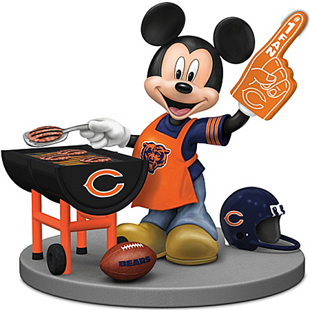 Disney Mickey Mouse Figurine: Chicago Bears Fired Up For A Win