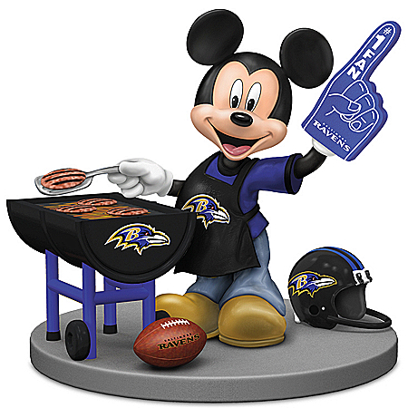Disney Mickey Mouse Figurine: Baltimore Ravens Fired Up For A Win