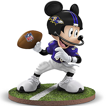 Disney Mickey Mouse Figurine: Quarterback Hero