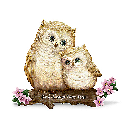 Owl Figurine: Owl Always Love You
