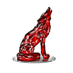 Wolf Figurine - Guardian Of The Red Diamond