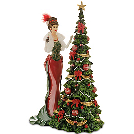 A Timeless Tradition COCA-COLA Victorian Lady Christmas Figurine