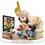 Figurine - Precious Moments Every Day Is A Touchdown With You Steelers Figurine
