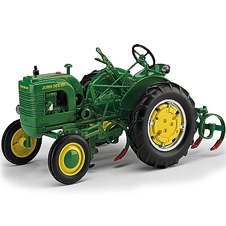 John Deere Collectibles Diecast Tractor: John Deere LA With Leaf Spring Cultivator