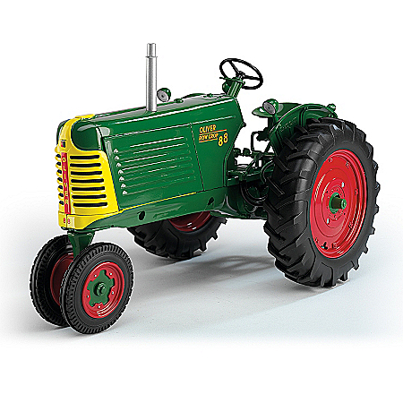 Diecast: Oliver Row Crop 88 Gas Narrow Front With Red Wheels Diecast Tractor