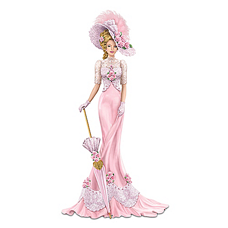 Hand-Painted Charming Elegance Breast Cancer Awareness Figurine