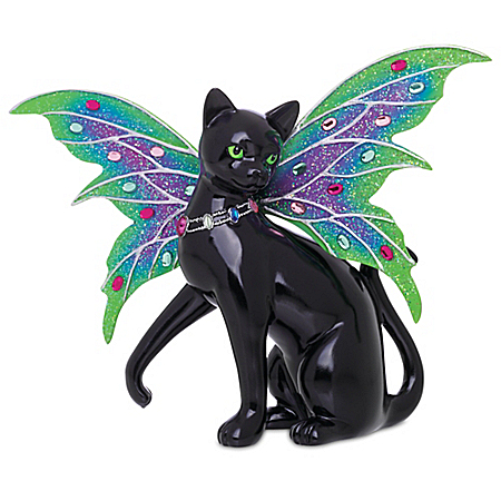Blake Jensen Aurora Black Cat Fairy Figurine