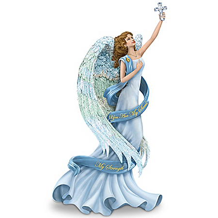 Figurine: Thomas Kinkade You Are My Soul, My Strength Angel Figurine