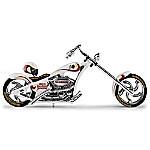 Super Bowl Stallion Cruiser Motorcycle Figurine