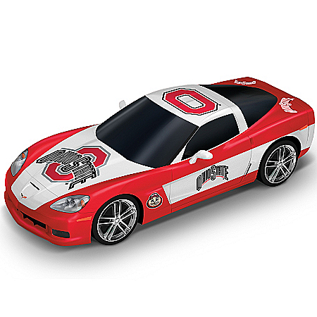 Sculpture: Go Ohio State Buckeyes Chevrolet Corvette Cruiser Sculpture