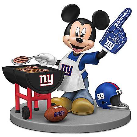 Figurine: Disney New York Giants Fired Up For A Win Mickey Mouse Tailgating Figurine