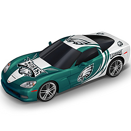 Sculpture: Philadelphia Eagles Chevrolet Corvette Cruiser Sculpture