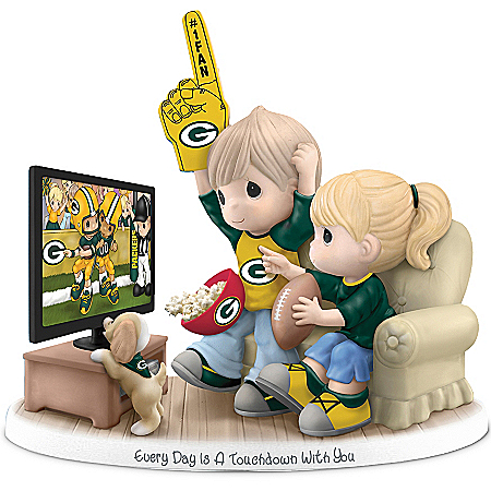 NFL-Licensed Green Bay Packers Fan Precious Moments Porcelain Figurine