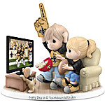 Figurine - Precious Moments Every Day Is A Touchdown With You Saints Figurine