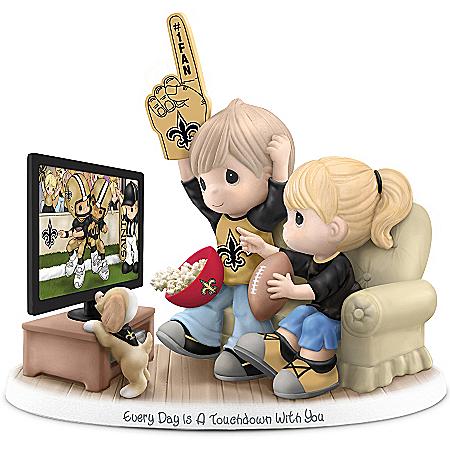 NFL-Licensed New Orleans Saints Precious Moments Porcelain Figurine