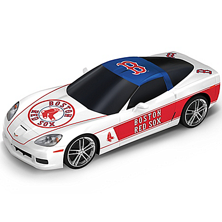 Sculpture: Boston Red Sox Home Run Cruiser Chevrolet Corvette Sculpture