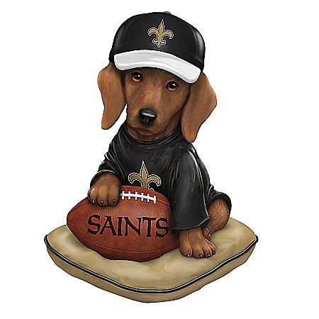 Figurine: New Orleans Saints Sunday Afternoon Quarter-Bark Figurine