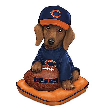 Figurine: Chicago Bears Sunday Afternoon Quarter-Bark Figurine