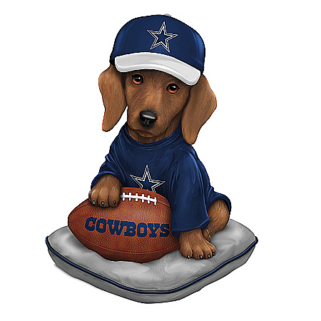 Figurine: Dallas Cowboys Sunday Afternoon Quarter-Bark Figurine