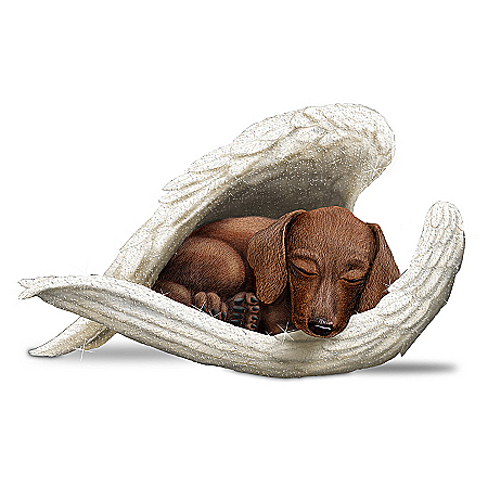 Figurine: Dachshunds Leave Paw Prints On Our Hearts Figurine