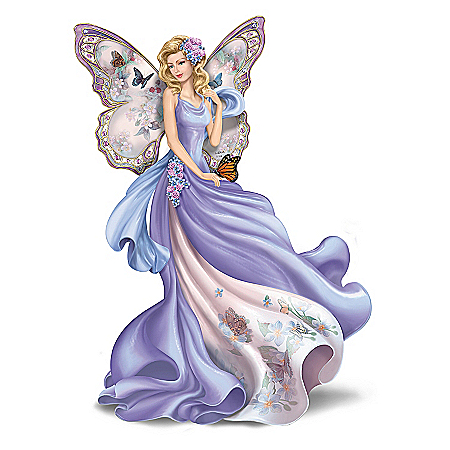 Lena Liu Plates Figurine: Lena Liu Fluttering Faith Alzheimer's Awareness Angel Figurine
