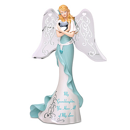 My Granddaughter You Have All Of My Love Handcrafted Angel Figurine