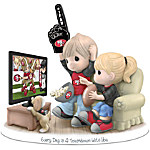 Figurine: Precious Moments Every Day Is A Touchdown With You 49ers Figurine
