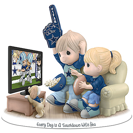 NFL-Licensed Dallas Cowboys Fan Precious Moments Porcelain Figurine
