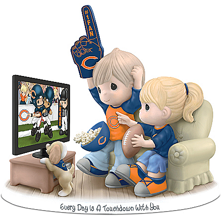 NFL-Licensed Chicago Bears Precious Moments Porcelain Figurine