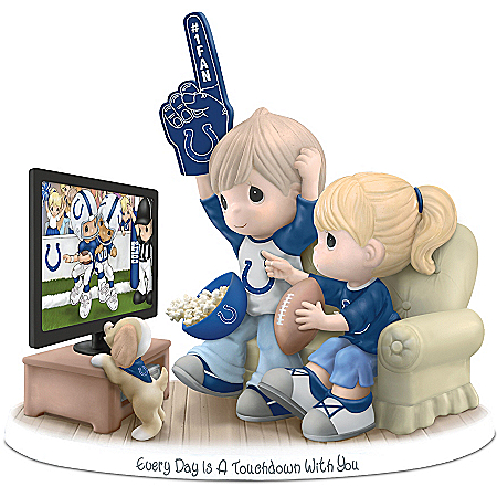 NFL-Licensed Indianapolis Colts Fan Precious Moments Porcelain Figurine