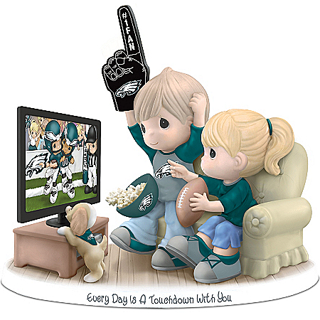 NFL-Licensed Philadelphia Eagles Fan Precious Moments Porcelain Figurine