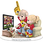 Figurine - Precious Moments Every Day Is A Touchdown With You Redskins Figurine
