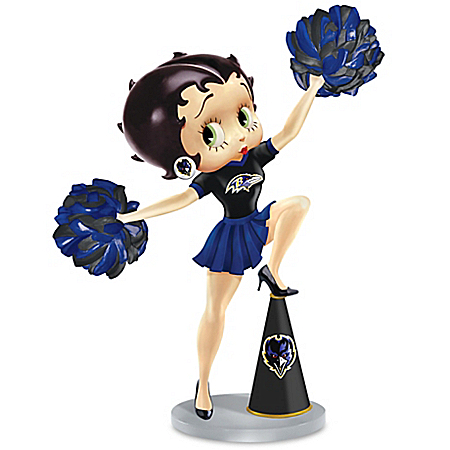 Handbell: Three Boop-Oop-A-Doops For The Baltimore Ravens Betty Boop Handbell