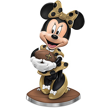 So Minnie Reasons To Love The New Orleans Saints Figurine Featuring Disney's Minnie Mouse