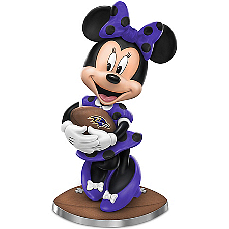 So Minnie Reasons To Love The Baltimore Ravens Figurine Featuring Disney's Minnie Mouse