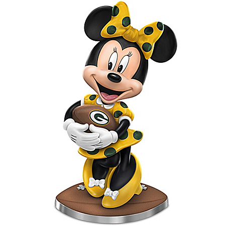 So Minnie Reasons To Love The Green Bay Packers Figurine Featuring Disney's Minnie Mouse