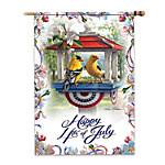 Flag - Kim Norlien Happy 4th Of July Flag