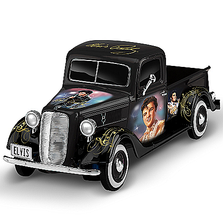Sculpture: Rock N' Rollin' With Elvis 1:36-Scale Ford Truck Sculpture