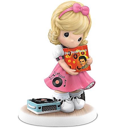 Figurine: Precious Moments Elvis Presley I'll Never Let You Go Figurine