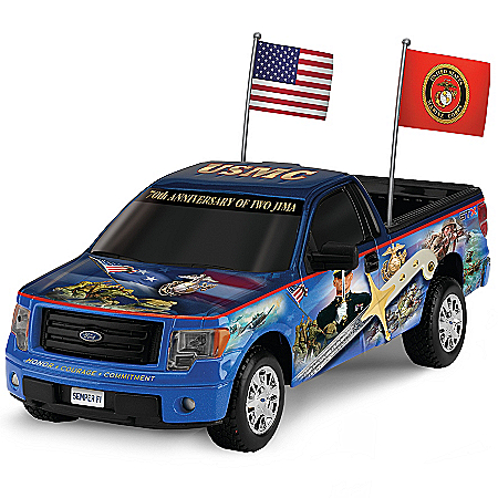Sculpture: U.S. Marines Ford F-150 Semper Fi Truck Sculpture