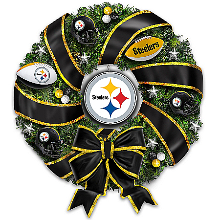 NFL-Licensed Pittsburgh Steelers Christmas Wreath
