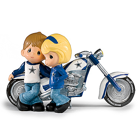 Precious Moments Cruising To Victory NFL Dallas Cowboys Motorcycle Figurine